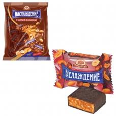 Конфеты шоколадные БАБАЕВСКИЙ 'Наслаждение', мягкая карамель с орехами, 250 г, пакет, ББ10589