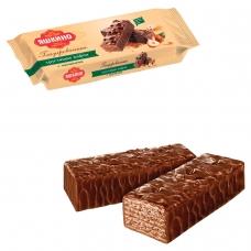 Вафли ЯШКИНО 'Глазированные с орешками', с какао, фундуком и арахисом, 200 г, ЯВ218