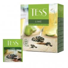 Чай TESS Тесс 'Lime', зеленый с цедрой цитрусовых, 100 пакетиков по 1,5 г, 0920-09