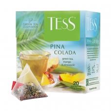 Чай TESS Тесс 'Pina Colada', зеленый с ароматом тропических фруктов, 20 пирамидок по 1,8 г, 0787-12