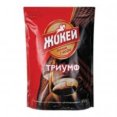 Кофе растворимый ЖОКЕЙ 'Триумф', сублимированный, 450 г, мягкая упаковка, 0917-08