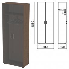 Шкаф каркас для одежды 'Канц' 700х350х1830 мм, цвет венге, ШК40.16.2