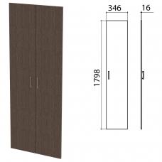 Дверь ЛДСП высокая 'Канц', КОМПЛЕКТ 2 шт, 346х16х1798 мм, цвет венге, ШК40.16.1