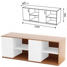 Стол ПАКЕТ 1 для кабинета физики, 2400х800х900мм, ЛДСП бук/пластик
